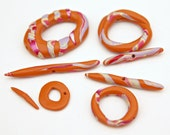Set of Handmade Artisan Polymer Clay Toggle Clasps Jewelry Supplies