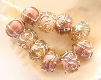 RESERVED - 10 Handmade Lampwork Beads