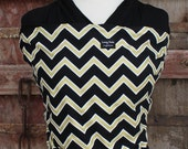 Ready To Ship-SUPER LIGHTWEIGHT ORGANIC BAMBOo Baby Wrap Carrier-Gold/Black Chevron On Black-One Size Fits All--DvD Included