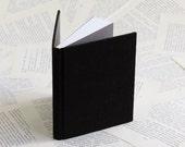 Small Black Linen Hardcover Notebook