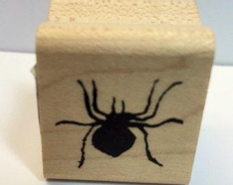 Clearance Rubber Stamp - Sale Tim Holtz Stamp - Halloween Spider Wood Mount Stamp