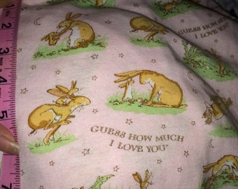 Ghmily guess how much i love you pale pink cotton knit -one yard