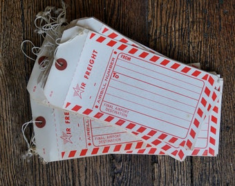 Air Freight Mail Labels- Vintage