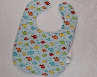 Rainbow Fish Chenille Bib