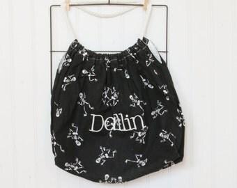Handmade Trick or Treat Bag - Great keepsake - Free personalization