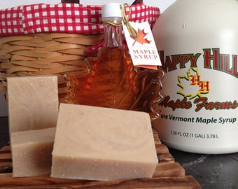 Oatmeal Milk and Maple - Maple syrup goat milk soap