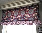 Kitchen window valance curtain window treatments anna maria horner innocent crush fabric