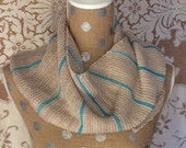 Scarf Women's Handknit Wool/Cashmere Striped Asymmetric Triangle Scarf