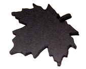 Black Cardstock Maple Leaf