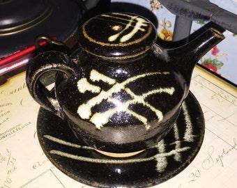 Vintage Pottery Tea Pot