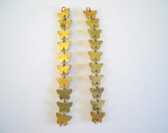 Vintage Brass Butterfly Stamping Chain