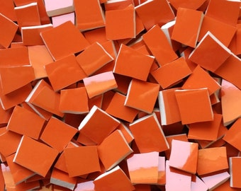 Mosaic Tiles-Deep Orange -100 Tiles