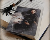 The Dire Snow... Bookmark... Jon Snow Inspired Collectors Card.. Inspired by The Game of Thrones... with his dire wolf Ghost
