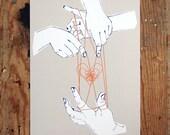 Cat's Cradle - A4 Digital Print - Illustration