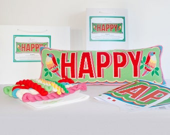 Happy cross stitch kit - large