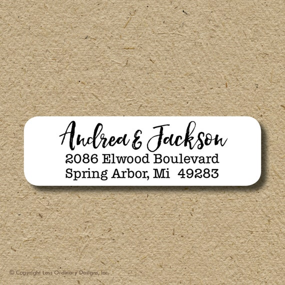 Return Address Labels Calligraphy Script Return Address