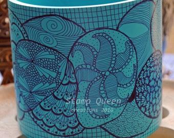 Bubbles - hand decoratesd vase