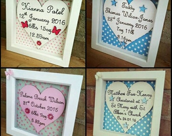 Personalised Baby frames