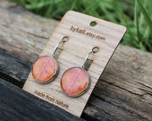 medium bright orange autumn sumac clasp earrings