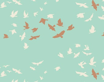 Aves Chatter Shine - Winged - Art Gallery Fabrics - Bonnie Christine - WNG-1026 - Birds Sky Flying Nature