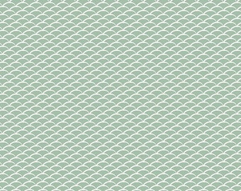 Miniature Hills Dew - Fantasia - Art Gallery Fabrics - Sara Lawson - FAN-4078 - Mountains Arcs Semicircles