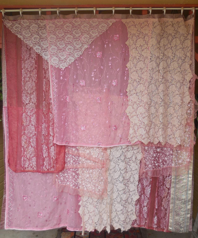 miss havisham bohemian gypsy shower curtain