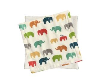 CLEARANCE Organic Wash Cloths | Elephants (set of 2)