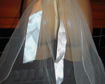 SALE - REDUCED New Wedding Veil G String Panties Knickers New bustle