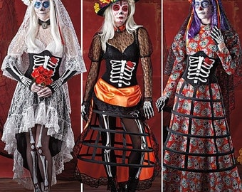 Sewing Pattern-Day of the Dead including Bone Corset Simplicity 1033 Size 6-14