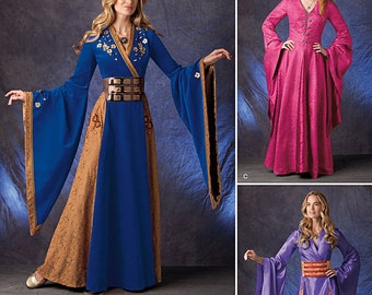 Simplicity 1009-Lord of the Rings, Game of Thrones Ren Faire Costume Dress size 6-12
