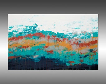 Lithosphere 132 - Art Painting Large Canvas, Original Abstract Painting Industrial Canvas Texture Wall Art Modern Art Paintings