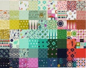 Complete Fall 2014 Cotton and Steel Fabric Charm Square Pack - 76 Individual Charms