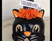 Halloween Decoration Tea Light Candle Holder Cat Halloween Decoration for Halloween Party or Halloween Ornament