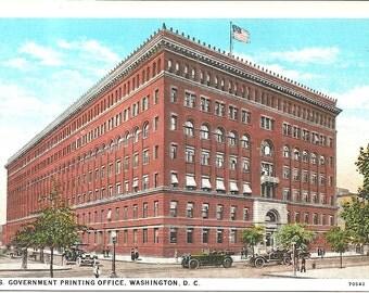 US Government Printing Office Washington, DC  Vintage 20's - 40's Linen Postcard