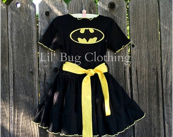 Batgirl Comfy Knit Dress, Batgirl Costume, Batgirl Outfit, Batgirl Birthday Party, Superhero Birthday Party
