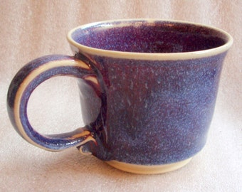 Purple, Blue and Magenta Wheel Thrown Pottery Cup or Cups - Purchase one or more!
