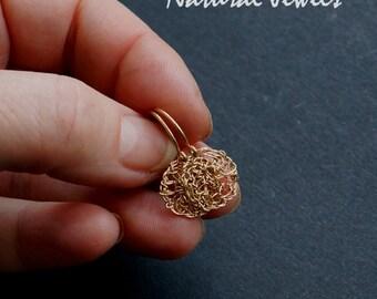 ORGANIC 14K Goldfilled handmade organic minimalistic small tiny circle earrings