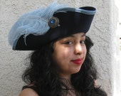 Reserved for Erin~ Navy blue pirate tricorn