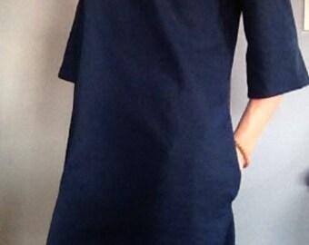 Spring Sale Anais Valentina Day Dress- Navy