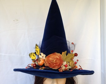 Witches Hat Autumn Blues Halloween Witch Costume