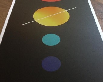 Solar system limited edition print
