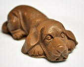 Beagle Dog Soap  - Hot Chocolate Scent - Goat's Milk Soap - Dog Lover's Soap - Chocolate Beagle - Brown Soap