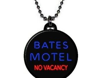 Psycho Bates Motel Image Necklace
