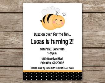 Bee Invitation, Bee Birthday Invitation, Bee Party Invitation, Bumblebee Invitation, Bumblebee Birthday, Bee Invite, PRINTABLE