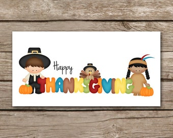 Thanksgiving Treat Topper, Treat Bag Topper, Pilgrim Treat Bag Topper, Thanksgiving Sticker, Thanksgiving Label, INSTANT DOWNLOAD