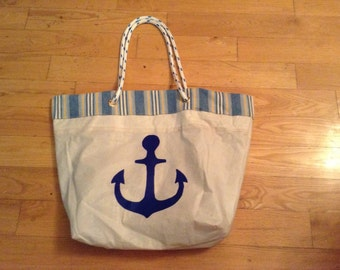 Yacht Sail Totes, 18x14x3 inches