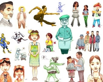 Character design collage 2013-2014