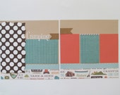 Camper Premade or DIY Kit,12x12 Scrapbook Layout, Scrapbook Page Kit, Project Life, Filofax