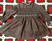 70s Smocked Dress 12/18 Months
