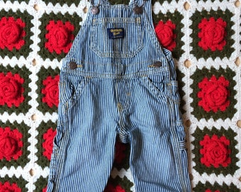 Striped Overalls 3/6 Months